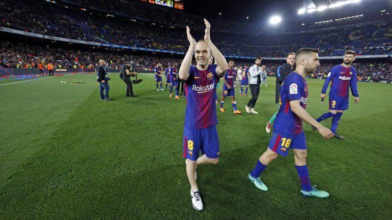 Iniesta se despidió del Barcelona con una victoria