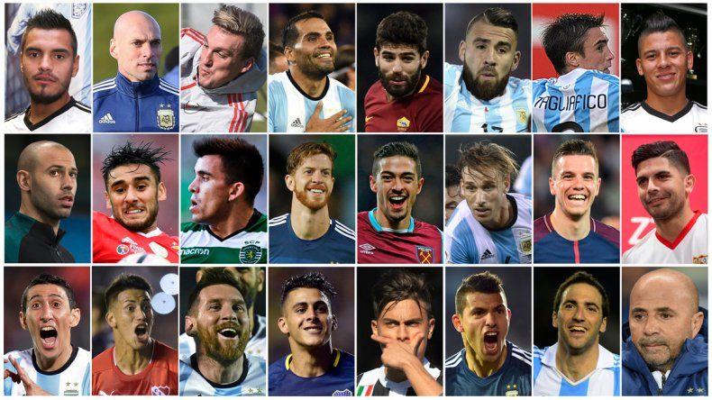 Acá están, estos son... los 736 jugadores del Mundial