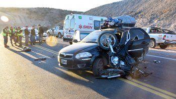 un motociclista herido en un accidente en autovia norte