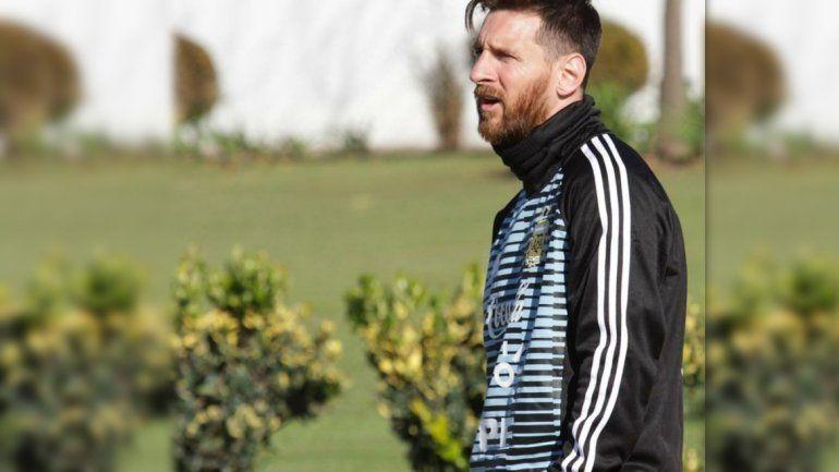 Mirá el lujo que tiró Messi en la primera práctica con la Selección