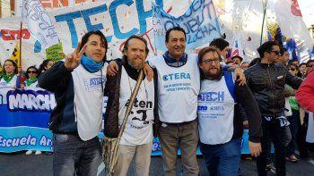 marcha federal en buenos aires: guagliardo fue uno de los oradores