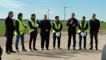 El Presidente ayer estuvo en la inauguración de un parque de energía eólica en la ciudad de Bahía Blanca.
