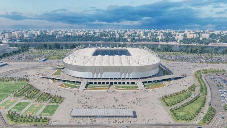 El Rostov Arena es nuevo. Allí jugará Brasil.