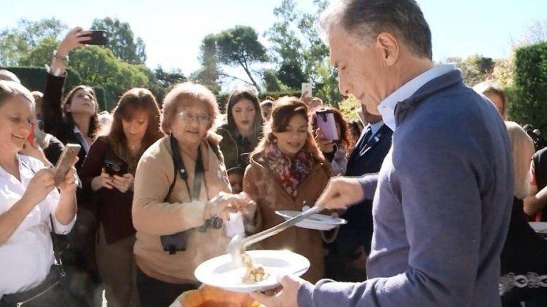 Macri compartió el locro y pidió seguir construyendo bases para crecer