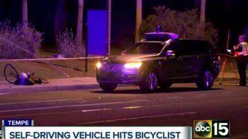 un uber autonomo no freno y mato en la ruta