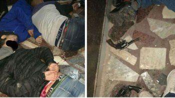 entradera: policia mato a dos ladrones e hirio a otro
