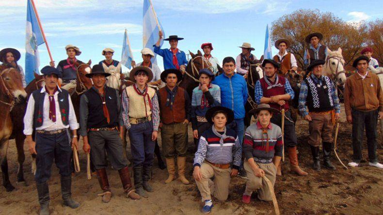 Festival de destrezas gauchas y jineteadas en Bajada del Agrio