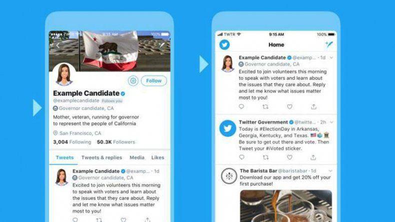 Twitter hará etiquetas electorales a candidatos