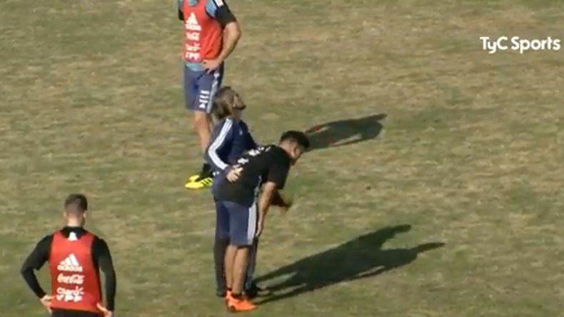 La Selección entrenó hoy en Huracán: ¿Se lesionó el Huevo Acuña?