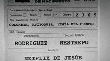 Una pareja bautizó con el nombre Netflix a su hijito