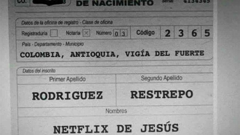 ¿No será mucho? Una pareja bautizó con el nombre Netflix a su hijito