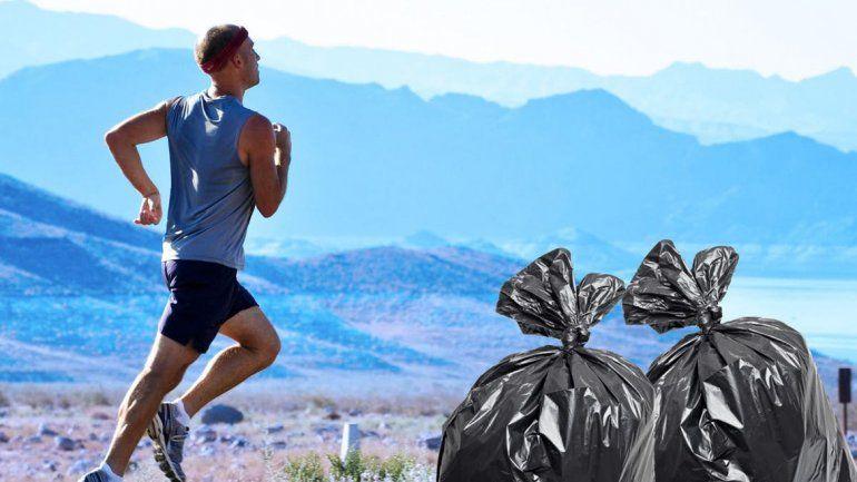 Los runners suelen llevar consigo varias bolsas.