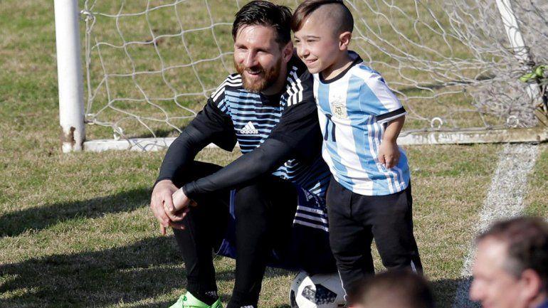 Messi y Diego juntos