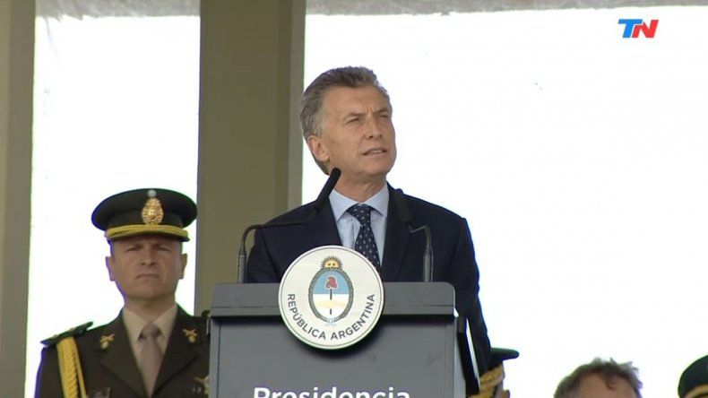 Macri estuvo en la conmemoración de los 208 años del Ejército.