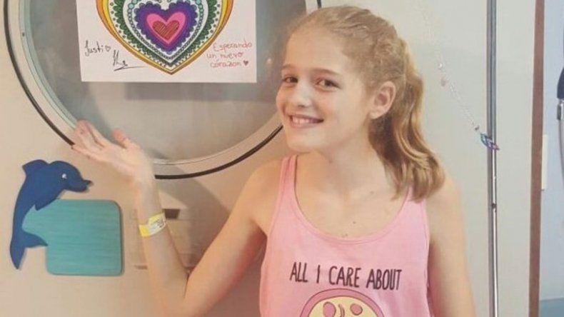 Justina tenía 12 años cuando murió el año pasado.