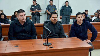 Pablo Escudero, Lucas Medina y Romualdo Mardones ayer durante la acusación.
