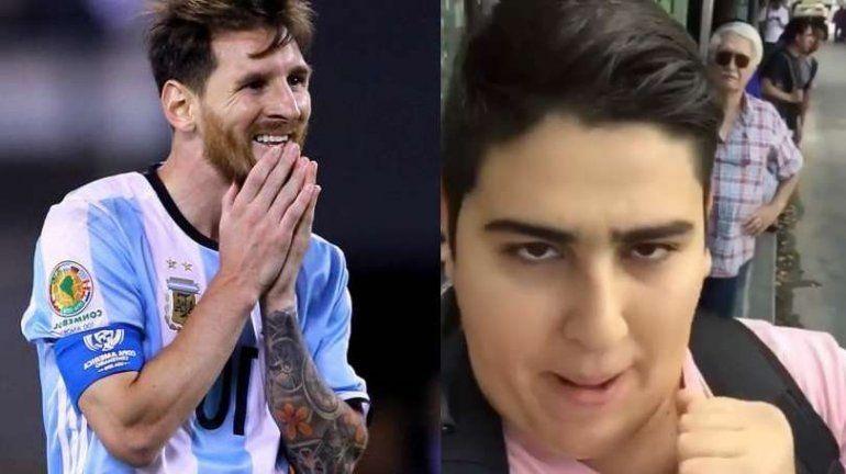 Ya salieron las medias del hit traeme la Copa, Messi