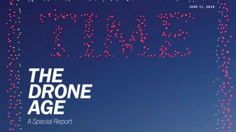 Usaron 958 drones para una histórica tapa de revista