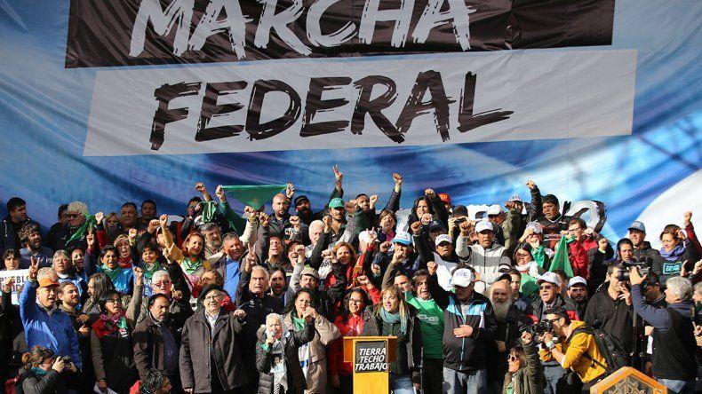 La Marcha Federal le exigió a la CGT un paro general