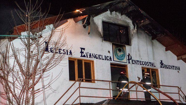 Se incendió una iglesia evangélica de San Martín