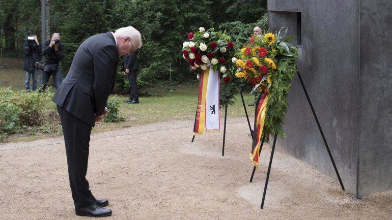Steinmeier habló en el monumento a los homosexuales asesinados.