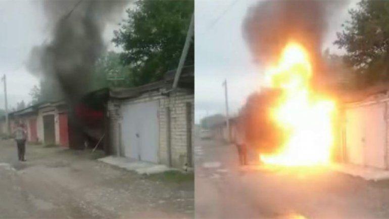 Le pasó por curioso: fue a mirar un incendio y salió despedido por una explosión