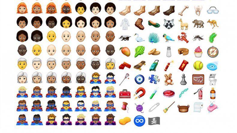 Estos son los nuevos emojis que podrán usarse desde hoy