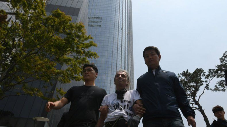 La escalada era un homenaje al proceso de paz que sucede en las Coreas.