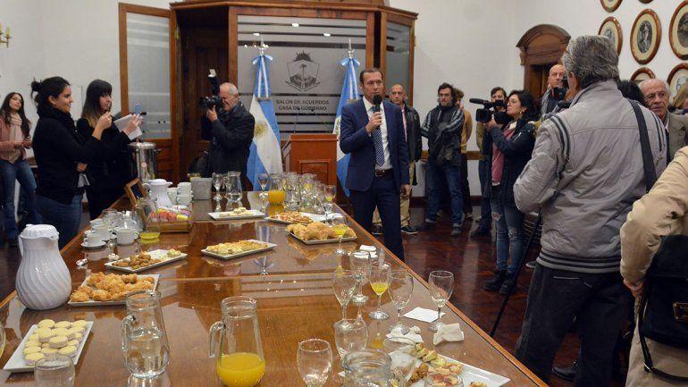 Gutiérrez reconoció la labor del periodismo neuquino