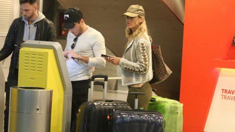 Engancharon a Nicole en su primer viaje con el ex de Jimena Barón