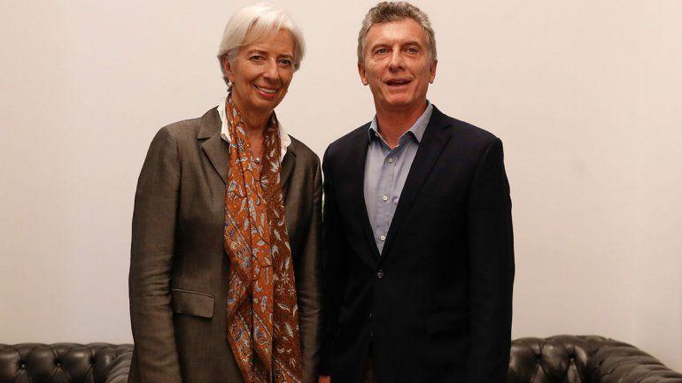 Macri se verá hoy con la titular del FMI en Canadá
