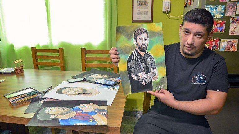 Al dibujante de Messi el Mundial  le tira un centro