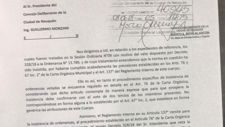 El MPN ve el fin de la cláusula gatillo y Pechi se defiende