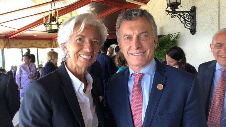Tras el acuerdo con el FMI, Macri estuvo con Lagarde en Canadá