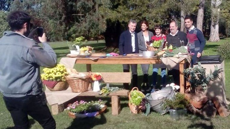 Macri y Awada junto a Cocineros Argentinos