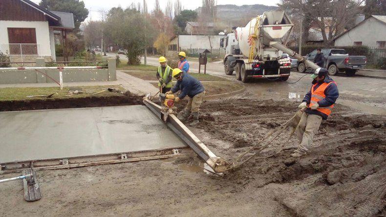Las 11 cuadras de pavimento de Junín están casi terminadas