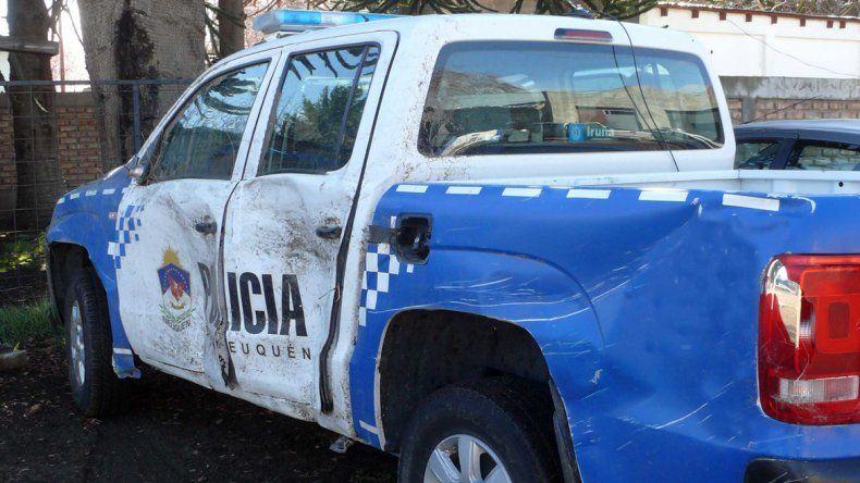Policía borracho chocó el patrullero contra otro auto