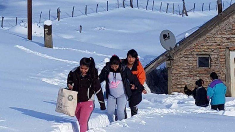 Con un operativo aéreo lograron evacuar a una joven embarazada en la cordillera