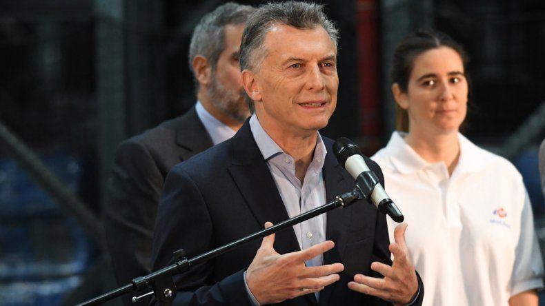 El Presidente realizó un acto en la empresa de Luchetti