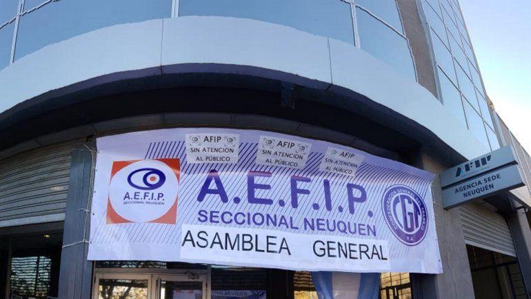 No hay atención en la AFIP por una medida de fuerza