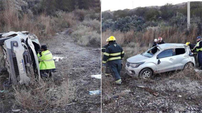 Una mujer y dos menores heridos tras un vuelco en la Ruta 7