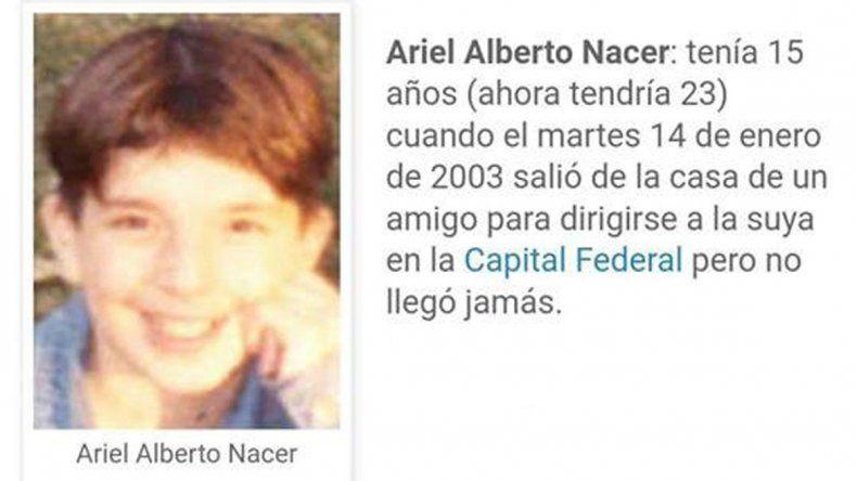 Ariel Alberto Nacer vive en situación de calle en el país inca y tiene una enorme cicatriz en su frente. Las autoridades buscan reconstruir su historia.
