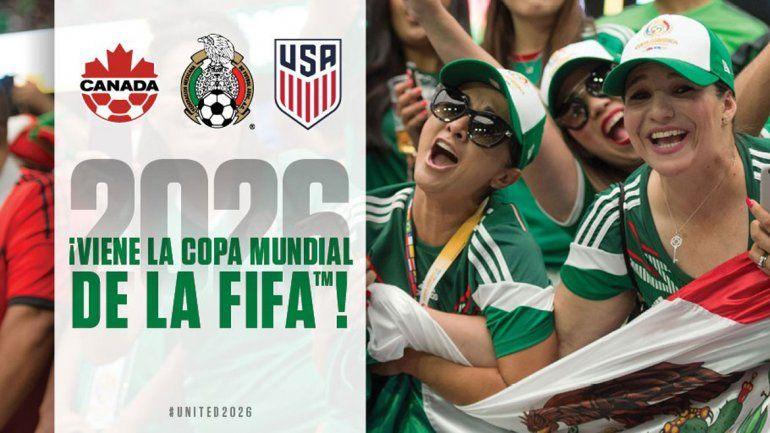 Tres países por una misma copa en el 2026. América festeja.