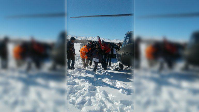 El hielo y nieve continúan castigando las zonas rurales: se realizaron tres rescates