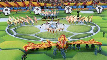 ceremonia breve y musical dio el puntapie al mundial
