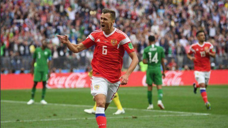 Rusia goleó a Arabia Saudita en la apertura del Mundial