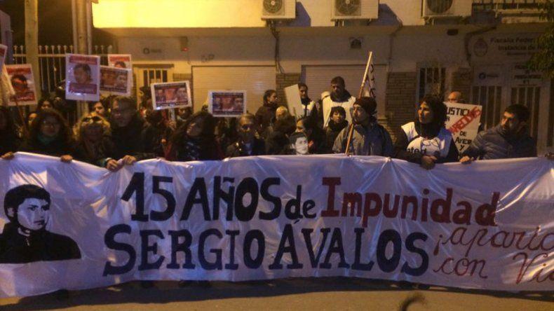 Familiares y amigos de Ávalos renovaron su reclamo de justicia por las calles