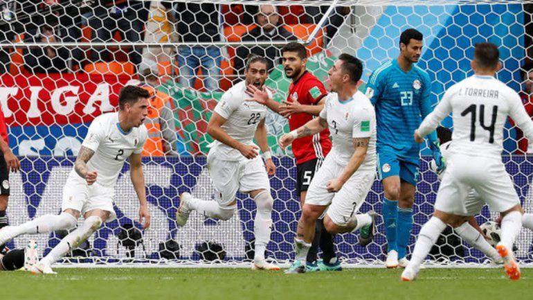 En el final, Uruguay encontró la victoria ante Egipto