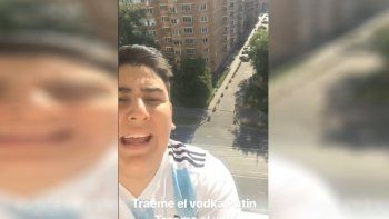 chapu martinez llego a rusia y busca foto con messi