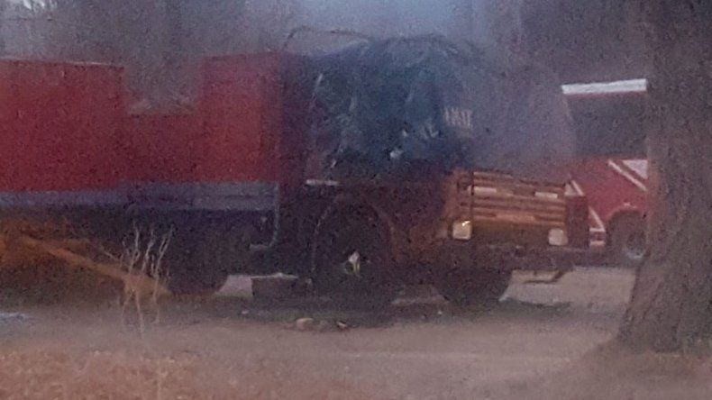 Una garrafa hizo volar el camión y murió calcinado